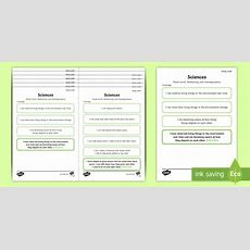 Editable * New * Cfe Early Level Sciences Childfriendly Assessment Tracker