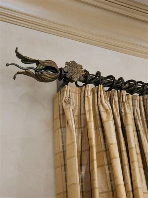 wrought iron curtain rod shelf brackets home design ideas
