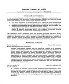 information security resume exles sle information security analyst resume 7 documents