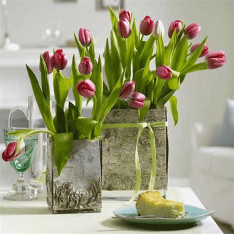 Frische Wanddekoration Mit Pflanzenneue Spiegel Blumentopf by Tischdeko Fr 252 Hling 100 Bezaubernde Ideen Zum Selber Machen