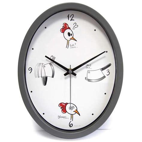 horloge cuisine quot ludik quot grise