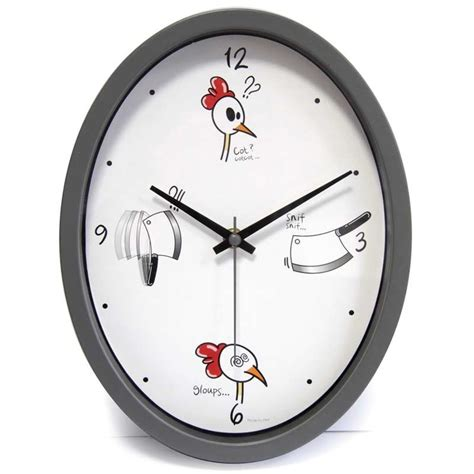 horloge de cuisine horloge cuisine quot ludik quot grise