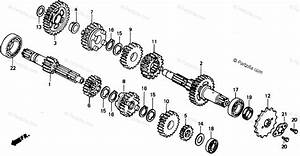 Honda Motorcycle 1986 Oem Parts Diagram For Transmission
