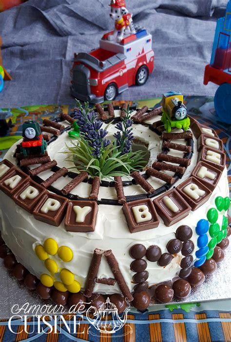 gateau d anniversaire pour gar 231 on d 233 coration facile amour de cuisine