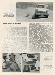 Datsun Fairlady Sports And Bluebird Road Test