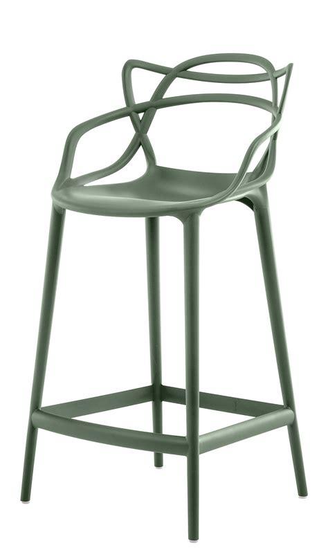 chaise 65 cm chaise de bar masters h 65 cm polypropylène vert sauge