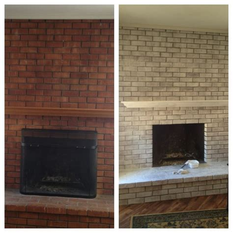 white wash fireplace before and after white washed brick ideas pinterest white wash brick bricks and fire places