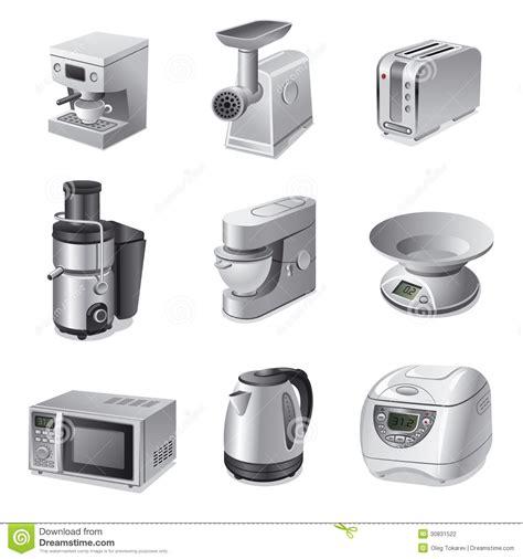 Kitchen Appliances Icon Set Stock Photography  Image