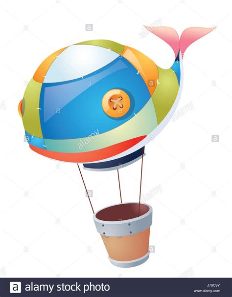 Cartoon Hot Air Balloon Cut Out Stock Images Pictures