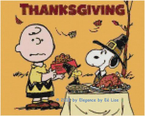 "Peanut's ""a Charlie Brown And Snoopy Thanksgiving"" Cross"