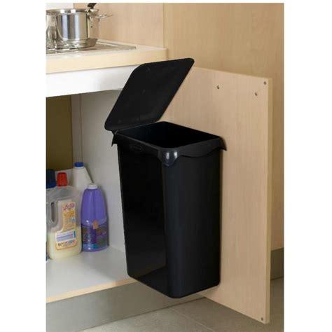 poubelles de cuisine automatique poubelle de placard portasac 23 l noir achat vente poubelle corbeille poubelle de