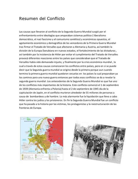 resumen conflicto quot segunda guerra mundial quot