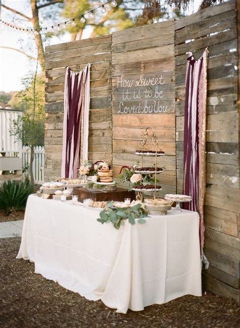 Rustic dessert table backdrop Wedding & Party Ideas