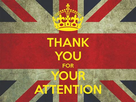 Thank You For Your Attention Poster  Tks  Keep Calmomatic
