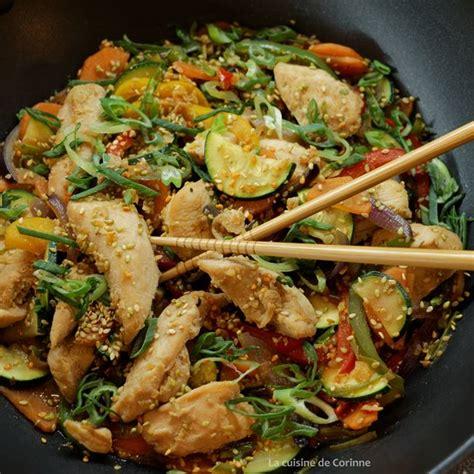 cuisine au wok poulet recette wok de poulet sauté aux légumes et au sésame