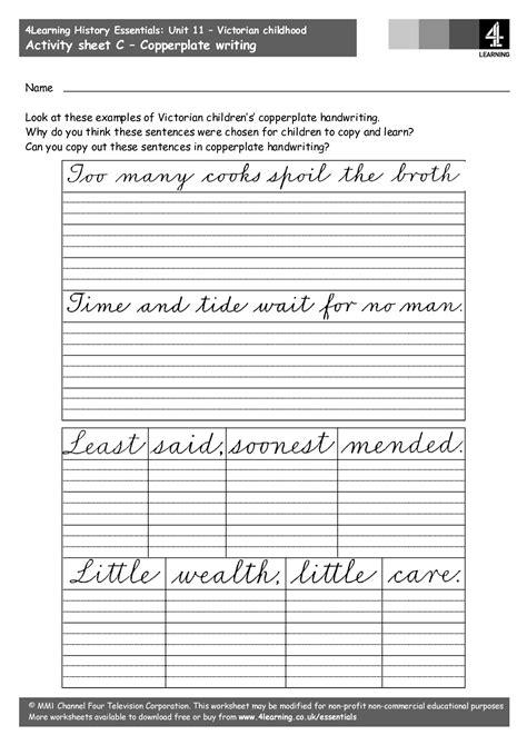 copperplate worksheets worksheets