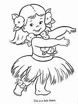 Coloring Hula Dancer Pages Luau Printable Getcolorings sketch template