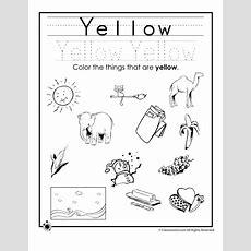 Color Yellow Worksheet  Woo! Jr Kids Activities