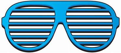 Shades Shutter Clipart Glasses 80s Transparent Clip