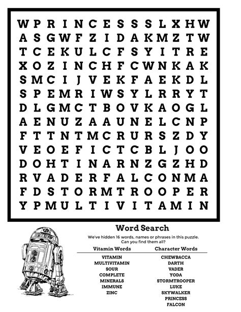 star wars word search puzzle  activity shelter