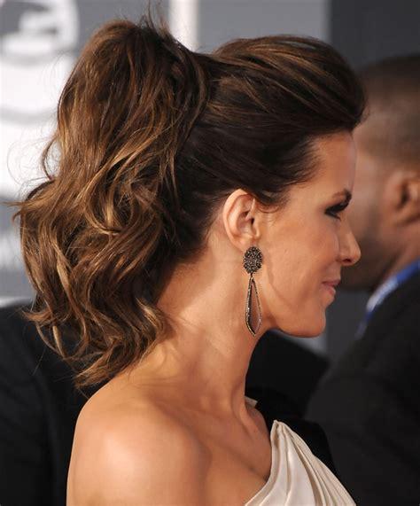 kate beckinsale ponytail hair  popsugar beauty photo