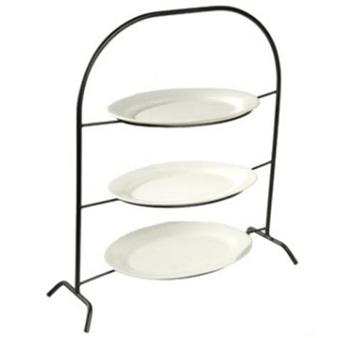 tier plate stand creative home iron works  tier metal dinner plate rack party food server