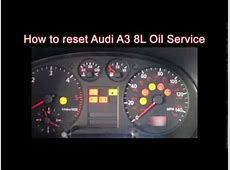 How to reset Audi A3 8L Tdi oil service light YouTube