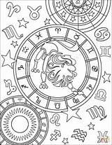 Zodiac Coloring Pages Sign Signs Leo Printable Horoscope Adult Drawing Aries Signos Sagittarius Adults Star Zodiaco Mandala Cool Para Mandalas sketch template