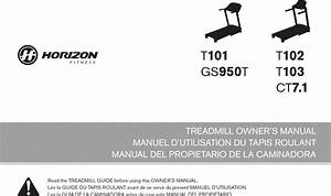 Horizon Gs950t User Manual Treadmill Manuals And Guides