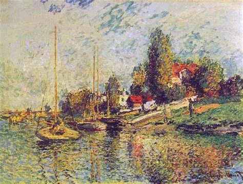 Monet Boats At Argenteuil by Boats At Argenteuil Claude Monet Paintings