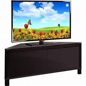 Meuble D Angle Pour Tv : mda designs volans meuble tv d 39 angle en verre et bois de ~ Teatrodelosmanantiales.com Idées de Décoration