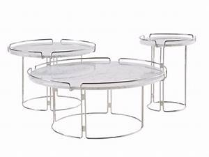 Table Ronde En Marbre : table basse ronde en marbre bijou by roche bobois design fabrice berrux ~ Mglfilm.com Idées de Décoration