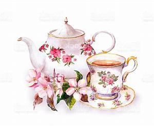 Best HD Tea Cup Painting Vector Design » Free Vector Art ...