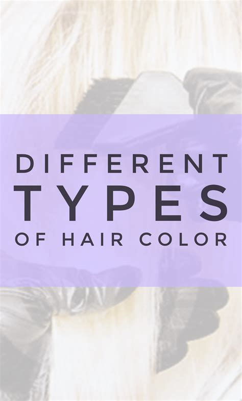 Different Types Of Hair Color by Types Of Hair Color Holleewoodhair