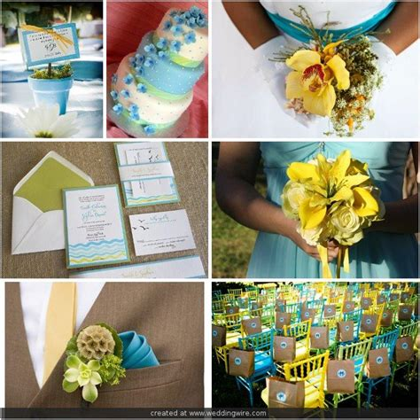 inspirational wedding ideas  turquoise blue yellow