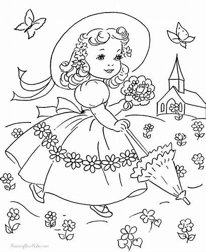Coloring Fashioned Pages Printable Getcolorings