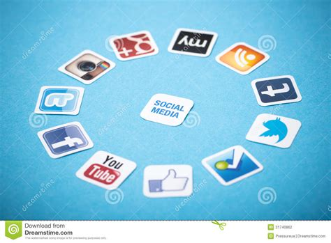 social media apps editorial photography image