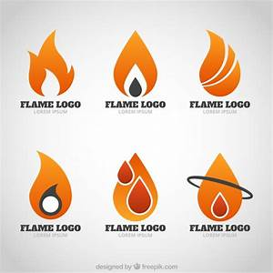Modern logos of flames Vector | Free Download