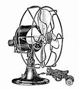 Electric Clip Steampunk Fans Fan Graphics sketch template