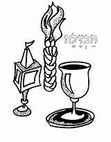 Coloring Jewish Shabbat Havdalah Pages Colouring Havdala Torah Clipart Candle Printable Hebrew Cliparts Candles Sheet Judaism Tots Crafts Candlesticks Ceramics sketch template