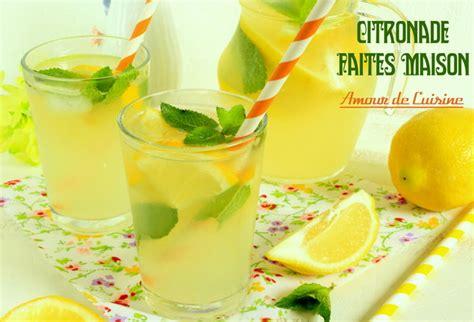 cuisine faite maison citronnade ou limonade au citron faite maison amour de