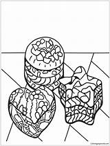 Coloring Pages Desserts Zentangle Popular sketch template