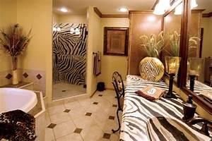 African Bathroom with Zebra Countertop - Eclectic