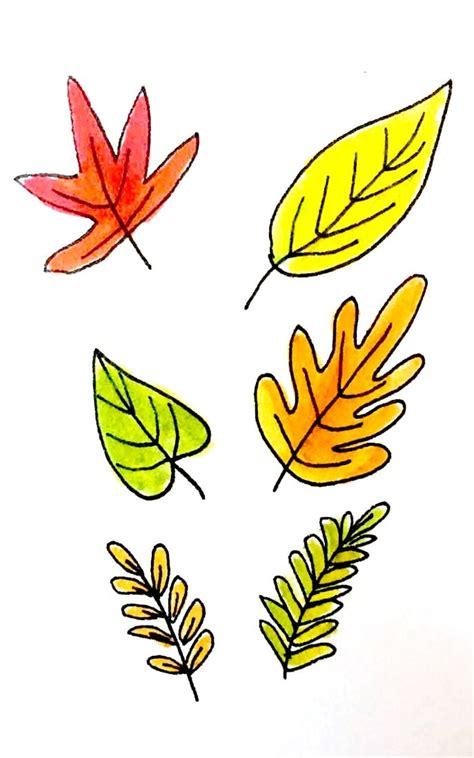 ways  draw fall leaves dawn nicole designs