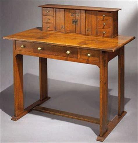 an arts and crafts furniture standout was a oak desk