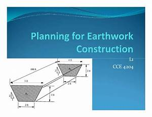 L1 Planning for Earthwork Construction