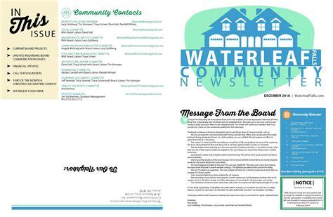homeowners newsletter template merrychristmaswishesinfo