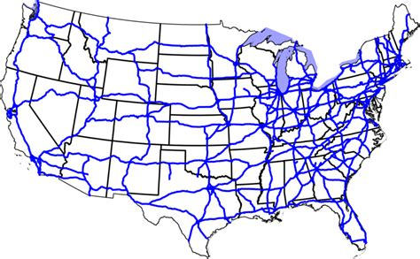 interstate highways map highway system route