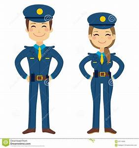 Cute Police Agents stock vector. Image of profession ...