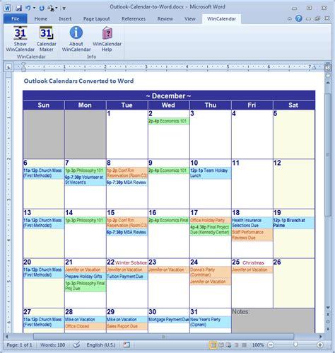 import outlook calendar  excel  word